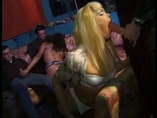 Hot vintage orgy with stunning trannies