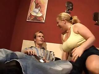 Chubby German blond milf