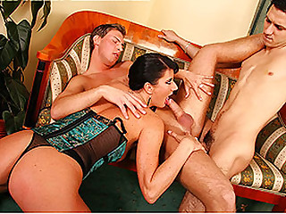 Two males One babe Bi Party