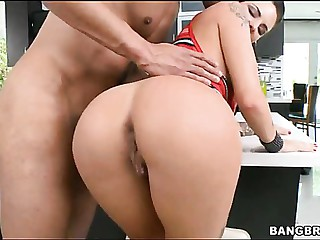 Wild sex with breasty babe