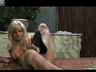 Gertie showing her nylon feet