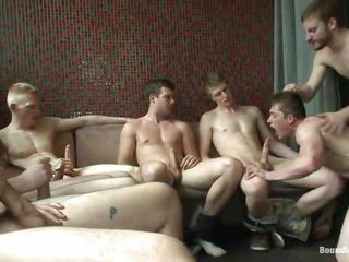 a couch full with horny gays needs a gratification