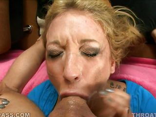 amy brooke with cum on her face sucking cock