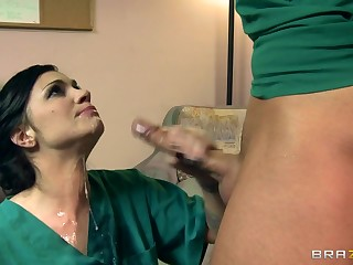 Sexy Doctor Takes Advantage Of Male Nurse  DA
