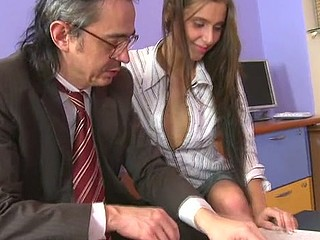 Horny teacher is pounding sweet hottie senseless