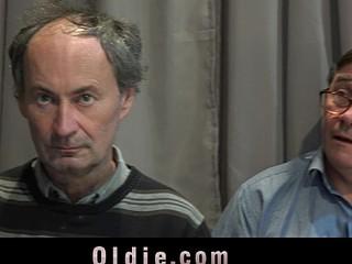 5 old geezers gang bangs a nasty juvenile blond