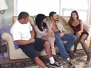 Cute Brunette Has Sexy Threesome...