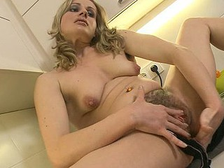 Renata resolves to show how adept this babe is in alternative cuisine, so that babe demonstrates her recipe for stuffed meat in her kitchen. Of course, this recipe involves her curly anus and muff being stuffed by cute little vibrator.