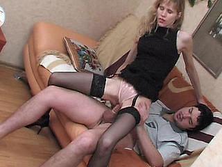 Dolly&Adam raunchy nylon act