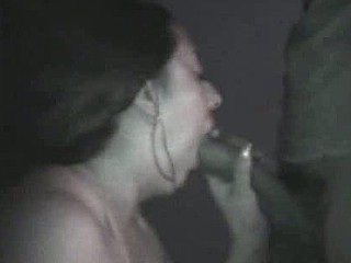 Amateur couple taping their sex on camera in a pure dark room. She sucks, licks, jerks and squeezes her husband's cock as this babe awaits her pleasing and sticky cumshot