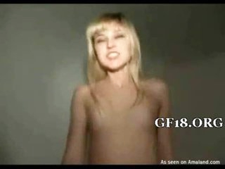 Asshole of girl is fucked