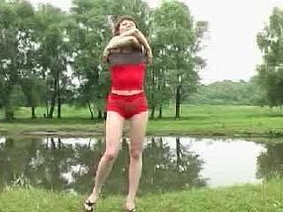Riverside urinating