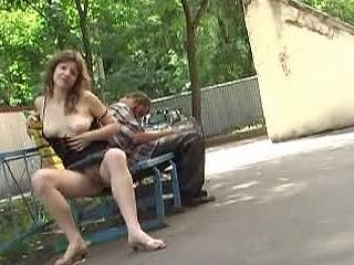 Nude scoops in public